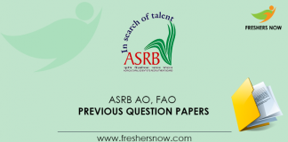 ASRB AO, FAO Previous Question Papers