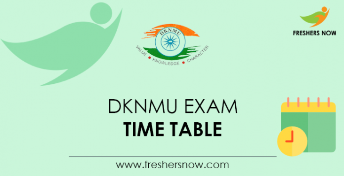 DKNMU Exam Time Table