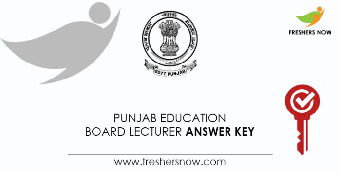 Punjab-Education-Board-Lecturer-Answer-Key
