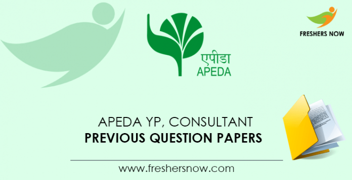 APEDA YP, Consultant Previous Question Papers