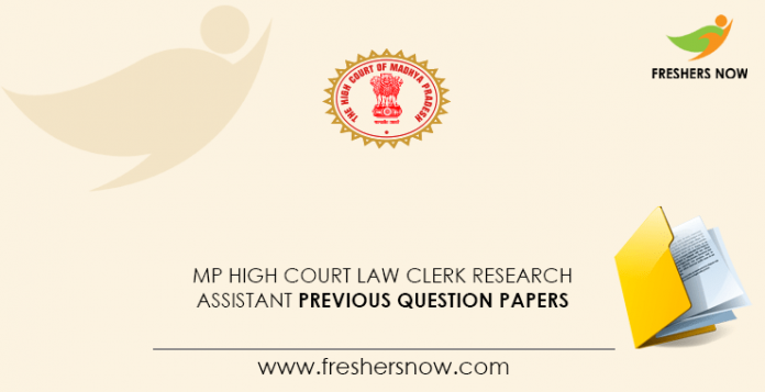 MP High Court Law Clerk Research Assistant Previous Question Papers