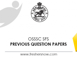OSSSC SFS Previous Question Papers