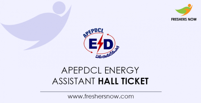 APEPDCL Energy Assistant Hall Ticket