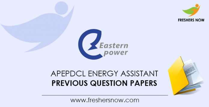 APEPDCL Energy Assistant Previous Question Papers