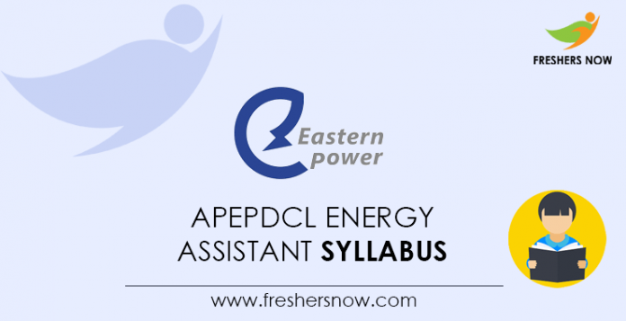 APEPDCL Energy Assistant Syllabus