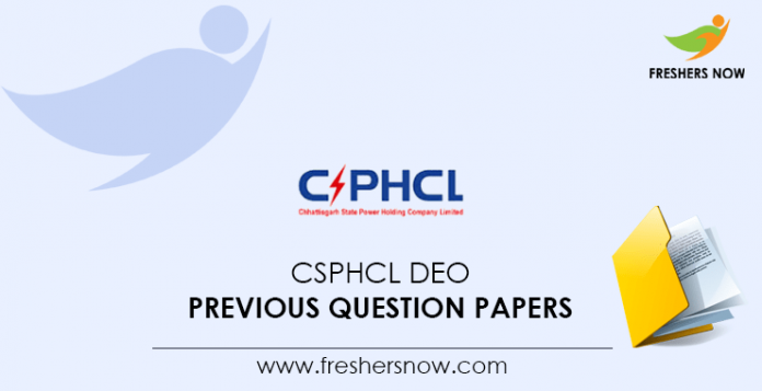 CSPHCL DEO Previous Question Papers