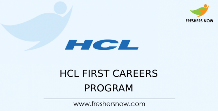 HCL First Careers Program