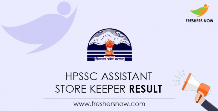 HPSSC-Assistant-Store-Keeper-Result