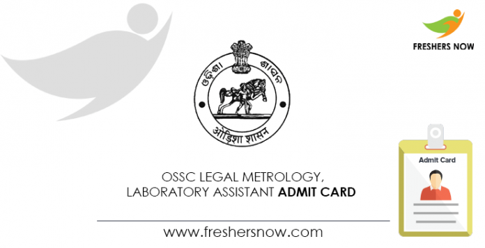 OSSC-Legal-Metrology,-Laboratory-Assistant-Admit-Card
