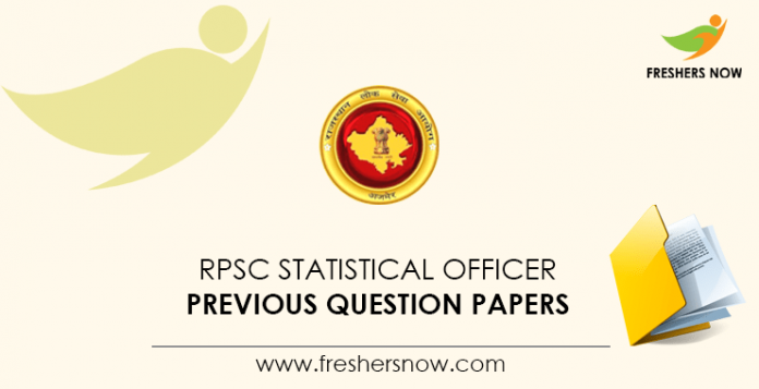 RPSC Statistical Officer Previous Question Papers