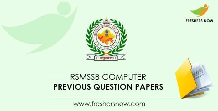 RSMSSB Computer Previous Question Papers