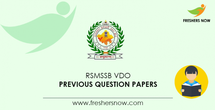 RSMSSB VDO Previous Question Papers