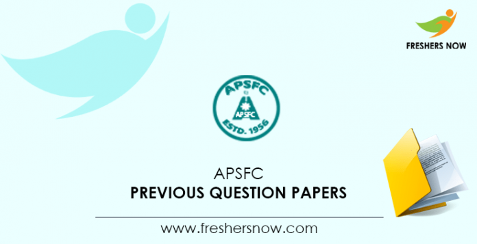 APSFC Previous Question Papers