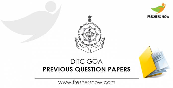 DITC Goa Previous Question Papers