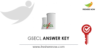 GSECL-Answer-Key