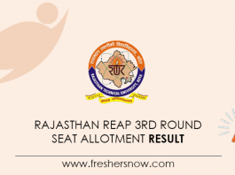 Rajasthan-REAP-3rd-Round-Seat-Allotment-Result