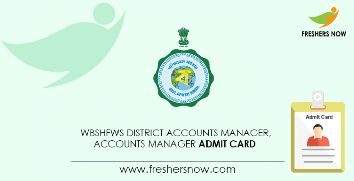 WBSHFWS-District-Accounts-Manager,-Accounts-Manager-Admit-Card